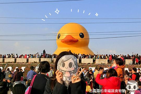 [桃園展覽] 桃園新屋後湖塘「黃色小鴨」,五線譜鴨爆破前