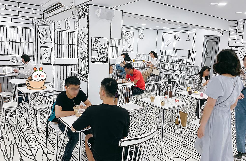 [台北] 網美必拍!走進漫畫場景「2D cafe」日韓爆紅咖啡廳來台灣了!