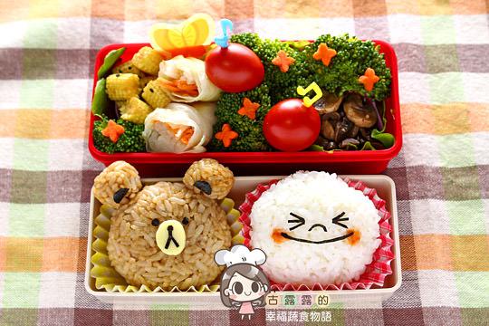 【造型便當日記】LINE 賴便當 ♥ 熊大饅頭人 2014新年快樂